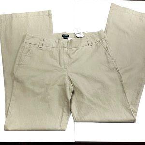 J. Crew khaki linen cotton work dress pants wide
